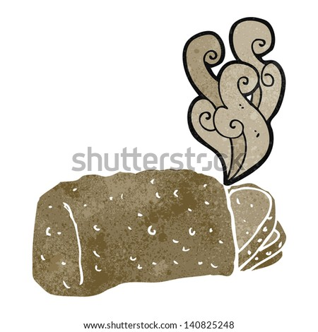 cartoon hot bread - stock vector