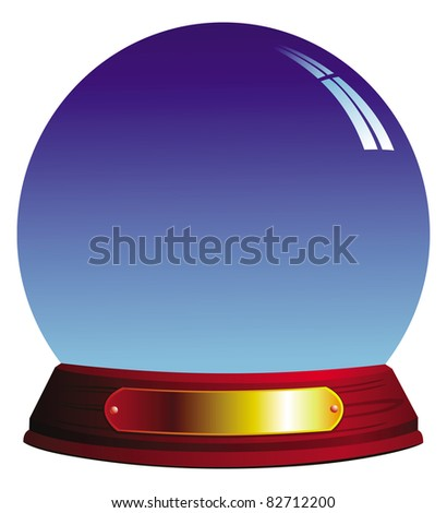 cartoon illustration of a crystal ball - stock vector