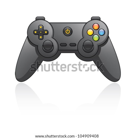 Cartoon illustration of a game pad. Eps 10 Vector. - stock vector