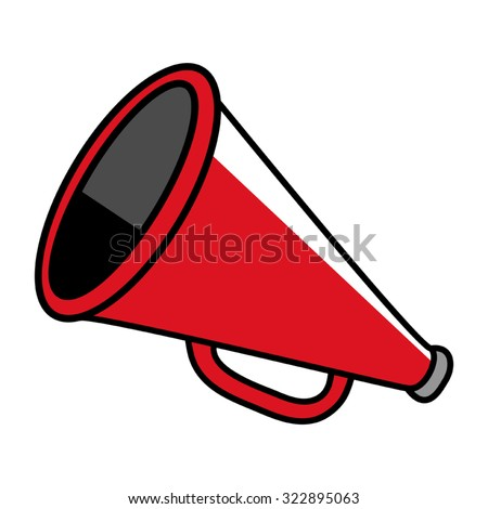 cartoon illustration megaphone stock photo photo vector rh shutterstock com cartoon megaphone cheer megaphone cartoon gif