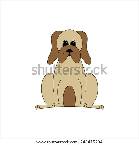 Droopy The Dog Smiling Droopy Dog Stock Vector