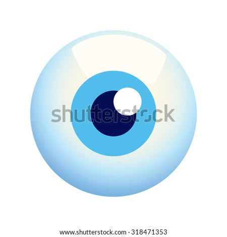 Cartoon illustration of an eyeball