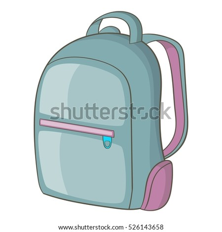 Cartoon illustration of backpack vector icon for web