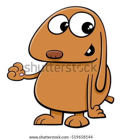Cartoon Illustration of Funny Dog Animal Character