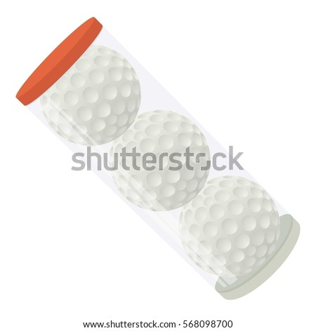 Cartoon illustration of golf balls vector icon for web