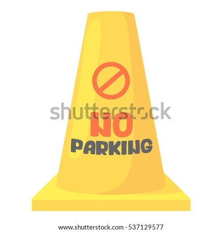 Cartoon illustration of road barrier vector icon for web