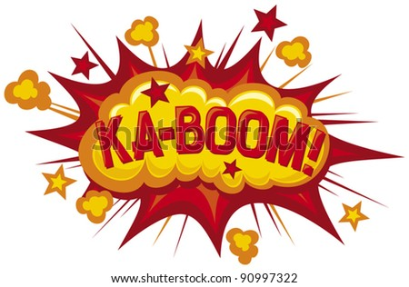 cartoon - ka-boom (comic book element) - stock vector