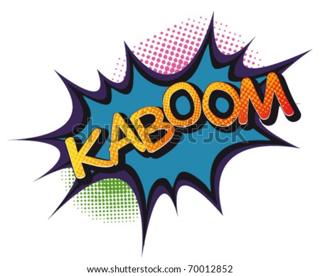 Cartoon-Kaboom - stock vector