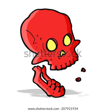 cartoon laughing skull