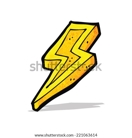 cartoon lighting bolt - stock vector