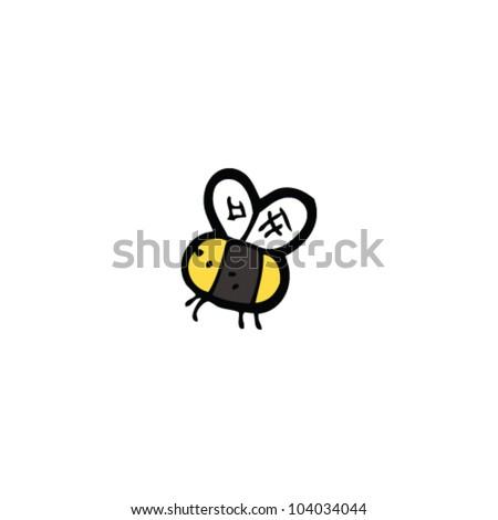 cartoon little bee - stock vector