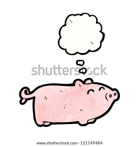 cartoon little pig - stock vector