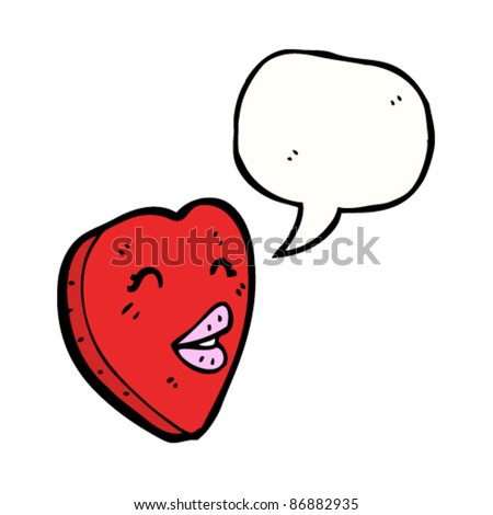 cartoon love heart character - stock vector