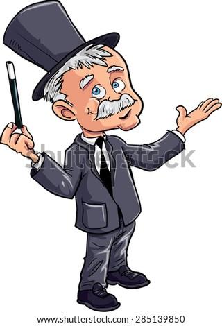 Cartoon magician - stock vector