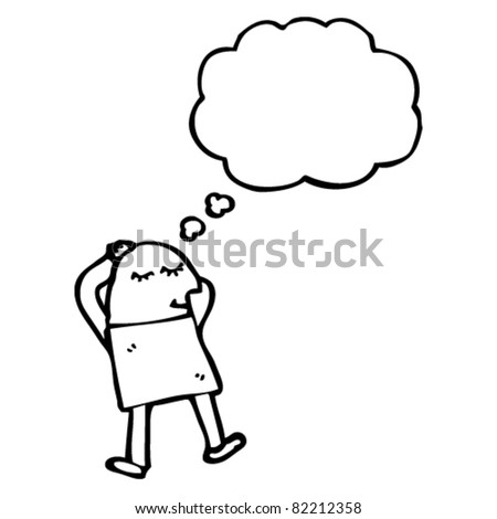 cartoon man dreaming - stock vector