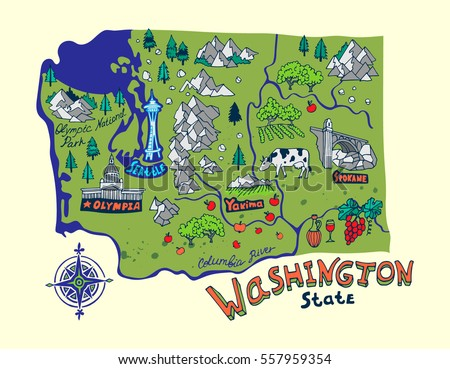 Washington State Stock Images RoyaltyFree Images Vectors - Washing state map