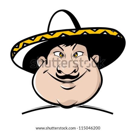 cartoon mexican mascot. vector illustration - stock vector