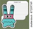 Cartoon monster with message cloud - stock vector