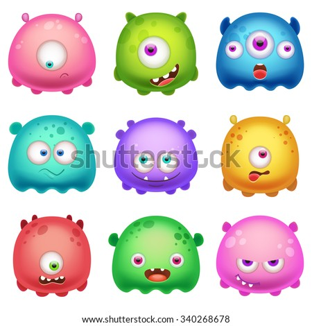 Cartoon Monsters - stock vector