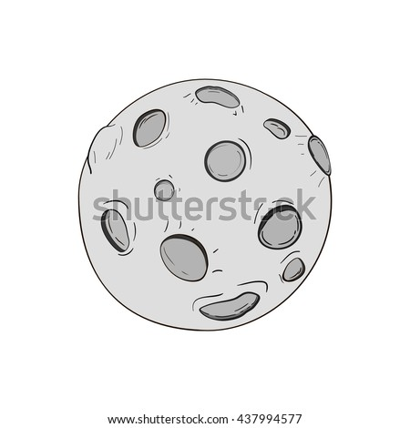 how to draw a full moon easy