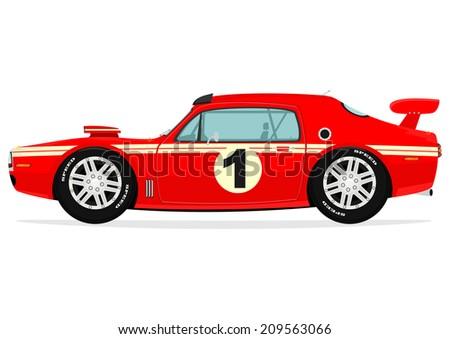 Cartoon Muscle Car Vector Stock Vector Shutterstock