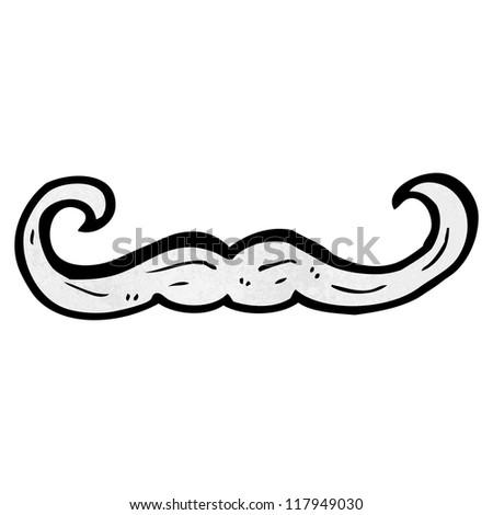 cartoon mustache - stock vector