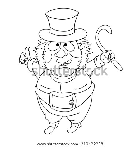 Cartoon nice fairytale leprechaun