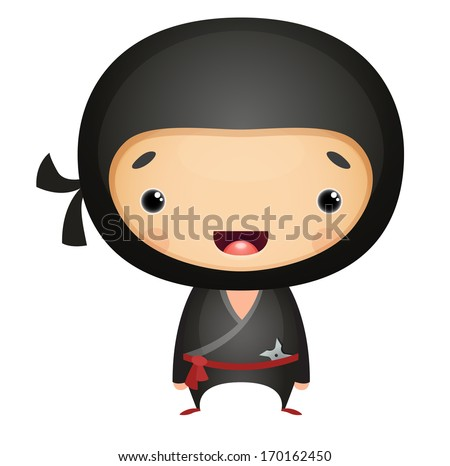Cartoon Ninja - stock vector