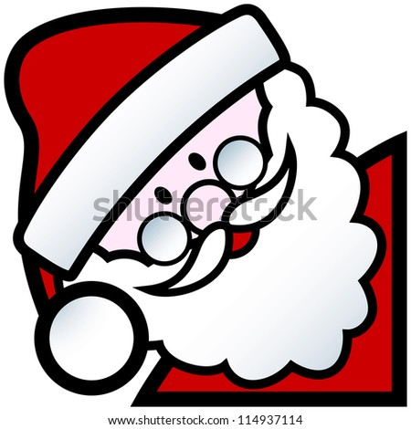 cartoon of happy smiling father christmas character - stock vector