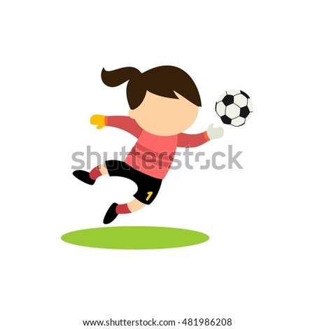 Cartoon of kids playing soccer. Vector Illustration