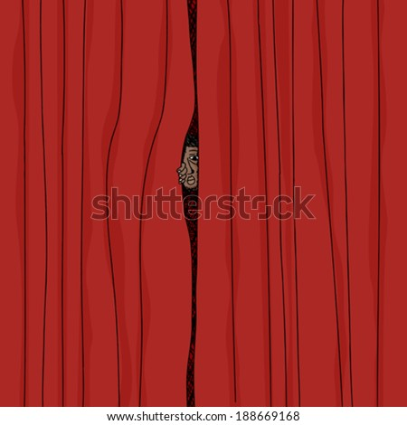 Behind the curtain stock photos royalty free images amp vectors
