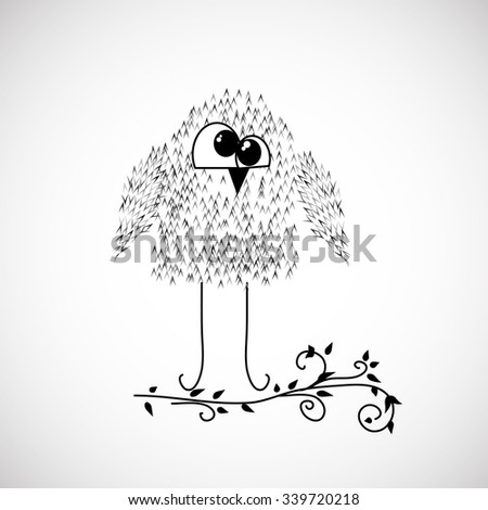 cartoon owl for your design - stock vector