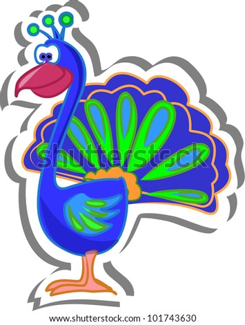Peacock Cartoon Stock Images, Royalty-Free Images & Vectors ...