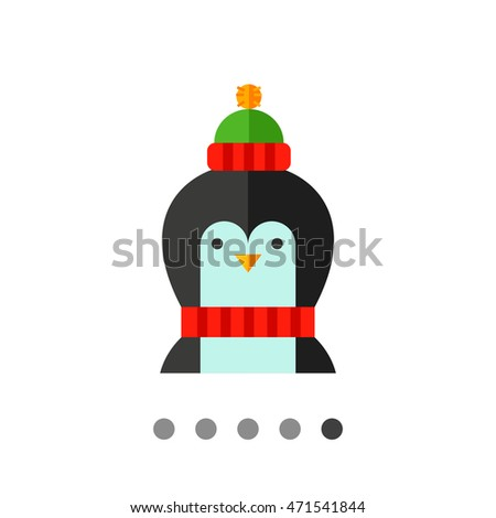 Cartoon Penguin Vector Icon 1