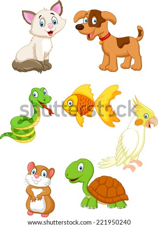 Cartoon pet - stock vector
