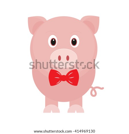 cartoon pig and tie