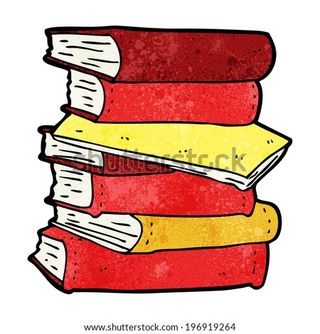 cartoon pile of books - stock vector