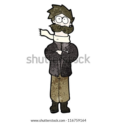 cartoon pilot - stock vector