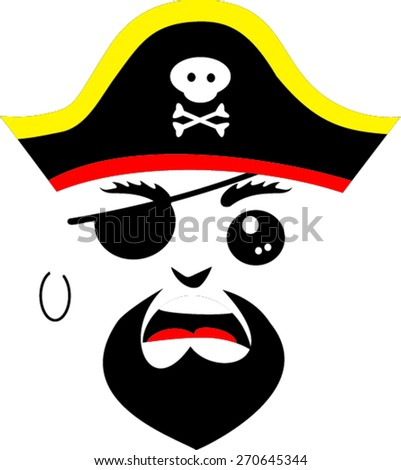 Pirate face vector - photo#6