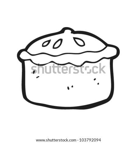 cartoon pork pie - stock vector