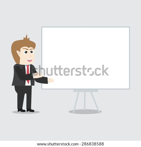 Cartoon Post employees on advertising - stock vector