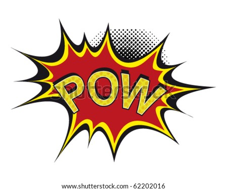 Cartoon-pow - stock vector
