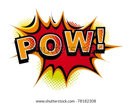 Cartoon-POW. Vector - stock vector