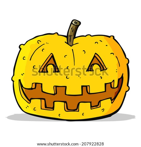 cartoon pumpkin - stock vector