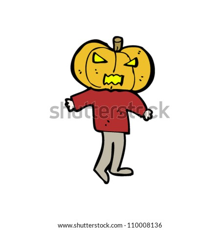 cartoon pumpkin head man