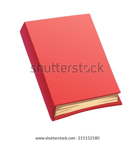 Cartoon red book isolated - stock vector