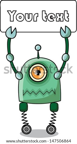 Cartoon robot - vector
