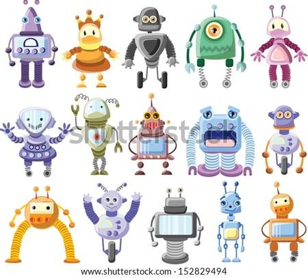 Cartoon robot- vector - stock vector