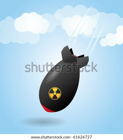 Cartoon rocket bomb - stock vector