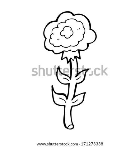 cartoon rose - stock vector